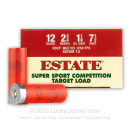 """Cheap 12 Gauge Ammo For Sale - 2-3/4"""" 1-1/8oz. #7.5 Shot Ammunition in Stock by Estate Cartridge - 25 Rounds"""