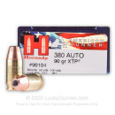 .380 ACP Ammo - Hornady American Gunner 90gr JHP - 25 Rounds