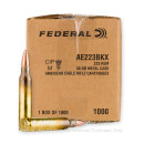Bulk 223 Rem Ammo For Sale - 55 Grain FMJBT Ammunition in Stock by Federal American Eagle - 1000 Rounds