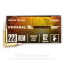 223 Rem 62 grain Federal Fusion MSR Hunting Ammunition - 20 Rounds