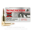 Cheap 223 WSSM Ammo For Sale - 55 Grain Power-Point SP Ammunition in Stock by Winchester Super-X - 20 Rounds