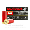 "12 Gauge Ammo - Winchester AA Light Target 2-3/4"" #9 Shot - 25 Rounds"