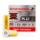 """20 Gauge Ammo - Winchester Xpert High Velocity 2-3/4"""" #6 Steel - 100 Rounds"""
