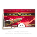 Premium 6mm Rem Ammo For Sale - 100 Grain Nosler Partition Ammunition in Stock by Federal - 20 Rounds
