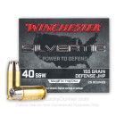 Premium 40 S&W Ammo For Sale - 155 Grain JHP Ammunition in Stock by Winchester Silvertip - 20 Rounds