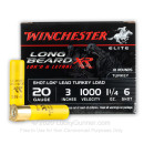 """Premium 20 Gauge Ammo For Sale - 3"""" 1-1/4oz. #6 Shot Ammunition in Stock by Winchester Long Beard XR - 10 Rounds"""