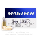 9mm Luger Ammo For Sale - 124 gr LRN - Magtech Ammunition In Stock - 50 Rounds