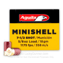 "Cheap 12 Gauge Ammo For Sale - 1-3/4"" 5/8oz. #7.5 Shot Ammunition in Stock by Aguila Minishell - 20 Rounds"