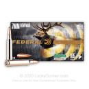 Premium 7mm Rem Mag Ammo For Sale - 165 Grain Soft-Point Boat-Tail (SP-BT) Ammunition in Stock by Federal Premium Vital-Shok Sierra GameKing - 20 Rounds
