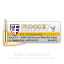 Premium 6.5 Creedmoor Ammo For Sale - 130 Grain Scirocco II Bonded Ammunition in Stock by Fiocchi - 20 Rounds