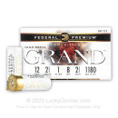 """Premium 12 Gauge Ammo For Sale - 2-3/4"""" 1oz. #8 Shot Ammunition in Stock by Federal Gold Metal Grand Plastic - 25 Rounds"""
