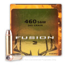 Premium 460 S&W Mag Ammo For Sale - 260 Grain Flat Nose SP Ammunition in Stock by Federal Fusion - 20 Rounds