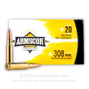 Cheap 308 Ammo For Sale - 147 grain FMJ - Armscor Ammo In Stock - 20 Rounds