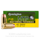 Cheap 40 S&W Ammo For Sale - 155 Grain JHP Ammunition in Stock by Remington HTP - 20 Rounds