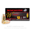 Bulk 380 Auto Ammo For Sale - 95 gr FMJ - Winchester Train & Defend Ammunition - 500 Rounds