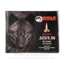 Cheap 223 Rem Bullets For Sale - 55 Grain FMJ-BT Bullets in Stock by WOLF Performance Ammunition Gold - 1000 Bullets
