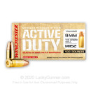 Premium 9mm Ammo For Sale - 115 Grain FMJ M1152 Ammunition in Stock by Winchester Active Duty - 100 Rounds