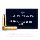 Cheap 38 Special Ammo For Sale - 158 Grain TMJ Ammunition in Stock by Speer Lawman - 50 Rounds - Corroded