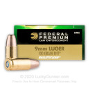 Premium 9mm Luger Ammo For Sale – 100 grain Frangible Ammunition in Stock by Federal Ballisticlean - 50 Rounds