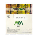 """Bulk 12 Gauge Ammo For Sale - 2-3/4"""" 1-1/4oz. #4 Shot Ammunition in Stock by BioAmmo Lux Lead - 250 Rounds"""