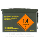 Cheap 5.56x45 Ammo For Sale - 55 Grain FMJ M193 Ammunition in Stock by Magtech - 800 Linked Rounds in Ammo Can