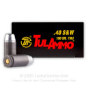 40 S&W Ammo For Sale - 180 gr FMJ - 40 S&W Ammunition In Stock by Tula Cartridge Works - 50 Rounds