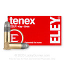 Premium 22 LR Ammo For Sale - 40 Grain LFN Ammunition in Stock by Eley Tenex - 50 Rounds