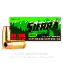 Premium 45 ACP Ammo For Sale - 185 Grain JHP Ammunition in Stock by Sierra Outdoor Master - 20 Rounds