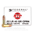 Bulk 22 LR Ammo For Sale - 40 Grain CPRN Ammunition in Stock by Federal Range. Target. Practice. - 5000 Rounds