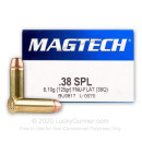 Bulk 38 Special Ammo For Sale - 158 gr FMJ Flat Magtech Ammunition In Stock - 1000 Rounds