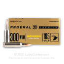 Premium 300 WSM Ammo For Sale - 185 Grain Berger Hybrid Hunter Ammunition in Stock by Federal - 20 Rounds