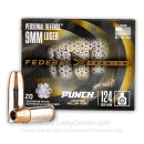 Bulk 9mm Ammo For Sale - 124 Grain JHP Ammunition in Stock by Federal Punch - 200 Rounds