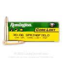 30-06 Ammo For Sale - 165 gr PSP - Remington Core-Lokt Ammo Online - 20 Rounds