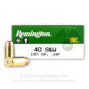 40 S&W Ammo For Sale - 180 Grain JHP Remington UMC 40 S&W Ammunition In Stock - 500 Rounds