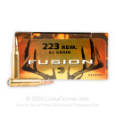 Premium 223 Rem Ammo For Sale - 62 Grain SP Ammunition in Stock by Federal Fusion - 200 Rounds