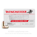 Bulk 380 Auto Ammo For Sale - 95 Grain FMJ Ammunition in Stock by Winchester USA - 200 Rounds