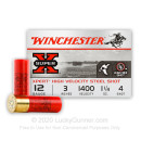 "Premium 12 Gauge Ammo For Sale - 3"" 1-1/4 oz. #4 Steel Shot Ammunition in Stock by Winchester XPERT HV - 25 Rounds"