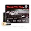 Premium 12 Gauge Ammo For Sale - 1-1/8 oz #2 Shot Ammunition in Stock by Winchester Bind Side - 25 Rounds