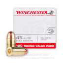 45 ACP Ammo For Sale - 230 gr FMJ Winchester USA Value Pack Ammunition In Stock