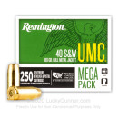 Bulk 40 S&W Ammo For Sale - 180 Grain Metal Case Ammunition in Stock by Remington UMC - 1000 Rounds