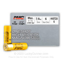 """Bulk 20 Gauge Ammo For Sale - 2-3/4"""" 7/8oz. #6 Steel Shot Ammunition in Stock by PMC High Velocity Magnum - 250 Rounds"""