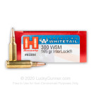Cheap 300 WSM Ammo For Sale - 165 Grain Interlock Ammunition in Stock by Hornady American Whitetail - 20 Rounds