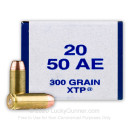 Bulk 50 Action Express Ammo For Sale - 300 Grain XTP JHP Ammunition in Stock by Armscor USA - 400 Rounds