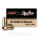 Cheap 40 S&W 180 gr JHP Defense Ammo For Sale -  PMC Starfire Ammo In Stock - 20 Rounds