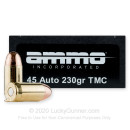 Cheap 45 ACP Ammo For Sale - 230 Grain TMJ Ammunition in Stock by Ammo Inc. - 50 Rounds