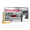 Premium 450 Bushmaster Ammo For Sale - 250 Grain Extreme Point Ammunition in Stock by Winchester Deer Season XP - 20 Rounds