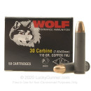 30 Carbine Ammo In Stock - 110 gr FMJ - Wolf Ammunition For Sale - 1000 Rounds
