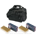 Side-Armor Deluxe Range Bag - Uncle Mike's - Black with 100 Rounds of Fiocchi 9mm FMJ Ammo