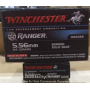 Premium 5.56x45 Ammo For Sale - 64 Grain Bonded Solid Base Ammunition in Stock by Winchester Ranger - 20 Rounds
