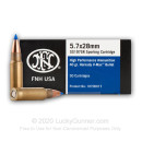 5.7x28mm - 40 Grain V-MAX - FN Herstal - 50 Rounds